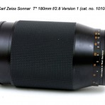 Carl Zeiss Sonnar T* 180mm f/2.8 C/Y